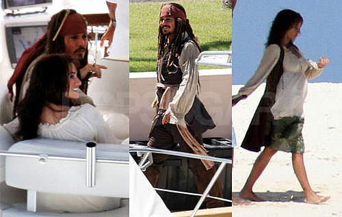 Pictures of Johnny Depp and Penelope Cruz Shooting Pirates of the Caribbean 4