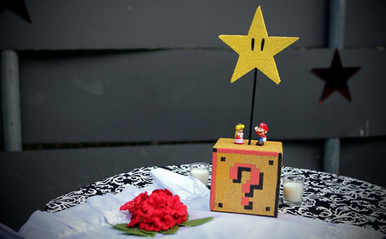An SMB-Themed Wedding