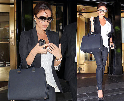 Pictures of Victoria Beckham Heading to The View in NYC