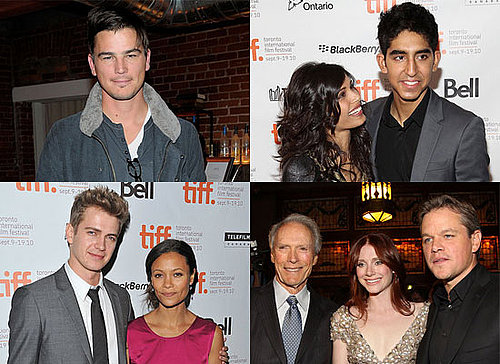 Josh Hartnett, Freida Pinto, Matt Damon at the 2010 Toronto Film Festival