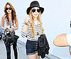 Slide Picture of Lindsay Lohan Shopping in Denim Shorts in LA