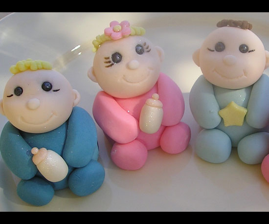 Edible Fondant Cake Baby