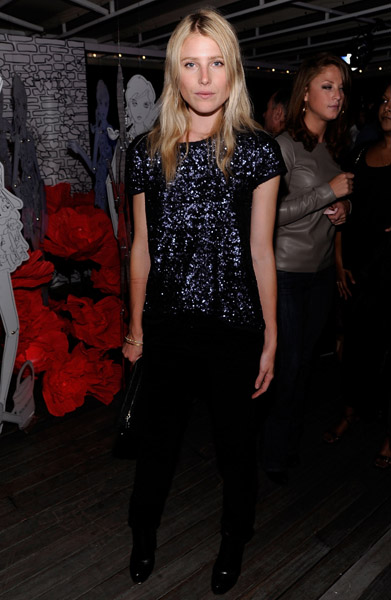 Dree Hemingway's sequins are dark and moody, just the way we love them.