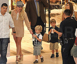 Slide Picture of Britney Spears With Sean Preston and Jayden James at Mall