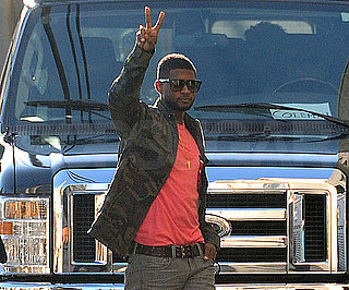 Slide Picture of Usher Leaving Jimmy Kimmel Studios in LA