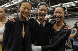 Highlights and giggles at Alexander Wang.