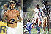 Pictures of David Shirtless and Victoria Beckham With Romeo, Cruz, and Brooklyn