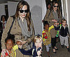 Pictures of Angelina Jolie At LAX with Shiloh and Zahara