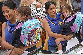 Pictures of Salma Hayek Picking Up Her Daughter Valentina Pinault From School in LA