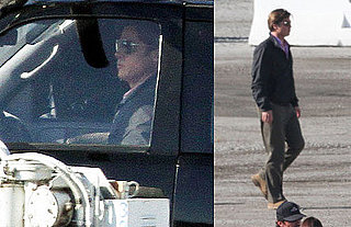Pictures of Brad Pitt Shooting Moneyball in LA