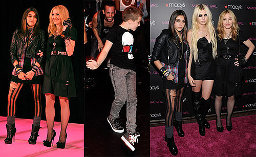 Madonna, Taylor Momsen, Lourdes Leon and Breakdancing Rocco at the Launch of Material Girl