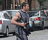 Slide Picture of Hugh Jackman Running in New York