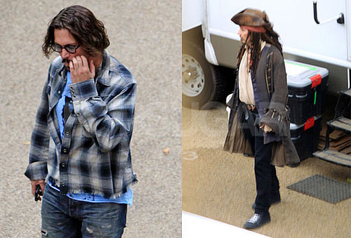 Pictures of Johnny Depp Filming Pirates of the Caribbean 4 in England 2010-09-27 15:00:00