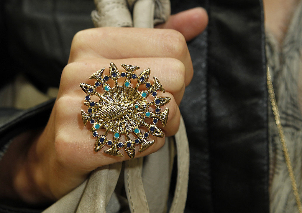 The peacock pendant on a ring is just as eye-catching.