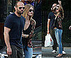 Pictures of Rosie Huntington-Whiteley and Jason Statham Cuddling in NYC