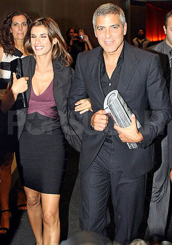 Pictures of George Clooney and Elisabetta Canalis at Dinner With Roberto Cavalli in Milan