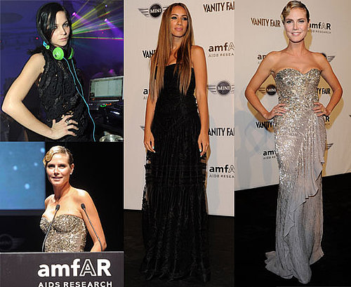 Heidi Klum, Leona Lewis, Erin Wasson and Leigh Lezark at Milan Fashion Week amFAR Auction