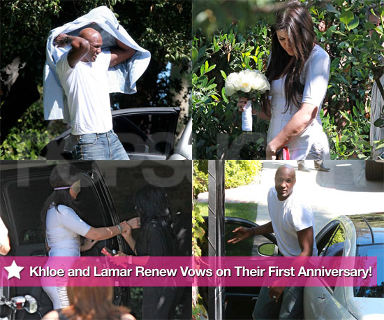 See Khloe Kardashian and Lamar Odom Renew Vows on Their First Anniversary!