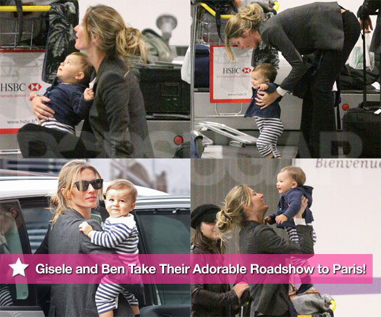 Pictures of Gisele Bundchen in Paris With Son Benjamin Brady