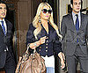 Slide Picture of Jessica Simpson Wearing a Blue Military Blazer in NYC