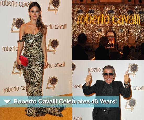 Here's to You, Mr. Cavalli — Roberto Celebrates 40 Years With a Fab Paris Party!