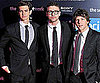 Slide Picture of Justin Timberlake, Andrew Garfield, and Jesse Eisenberg at the Paris Premiere of The Social Network