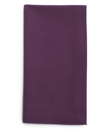 Twilight Purple Mitered Hem Napkins