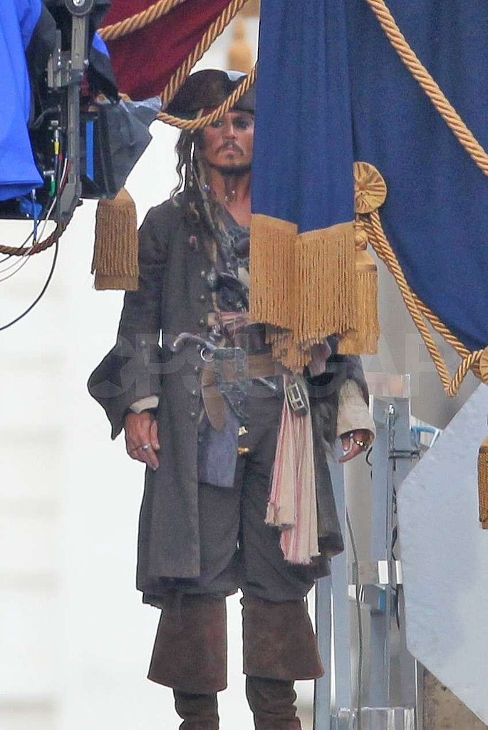 Johnny Depp Dressed Up For Another Day of Pirate Pageantry