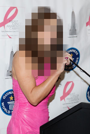 Picture of Actress at Empire State Building Breast Cancer Awareness Month Event
