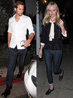 Pictures of Kate Bosworth and Alexander Skarsgard in Black and White