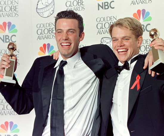 Matt Damon and Ben Affleck took home the Golden Globe Award for best screenplay for Good Will Hunting in January 1998.