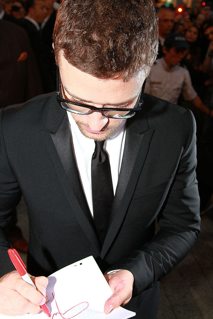 Justin Timberlake Promoting The Social Network in Paris