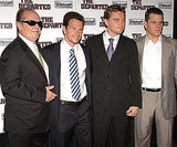 Matt Damon was joined by his Departed costars Jack Nicholson, Mark Wahlberg, and Leonardo DiCaprio during an NYC benefit in September 2006.