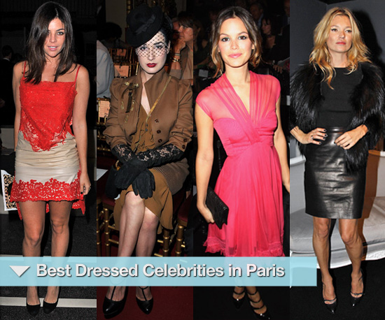 Photos of Celebrities at Paris Fashion Week Spring 2011