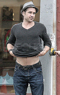 Pictures of Colin Farrell Sharing a Sneak Peek at His Abs in LA