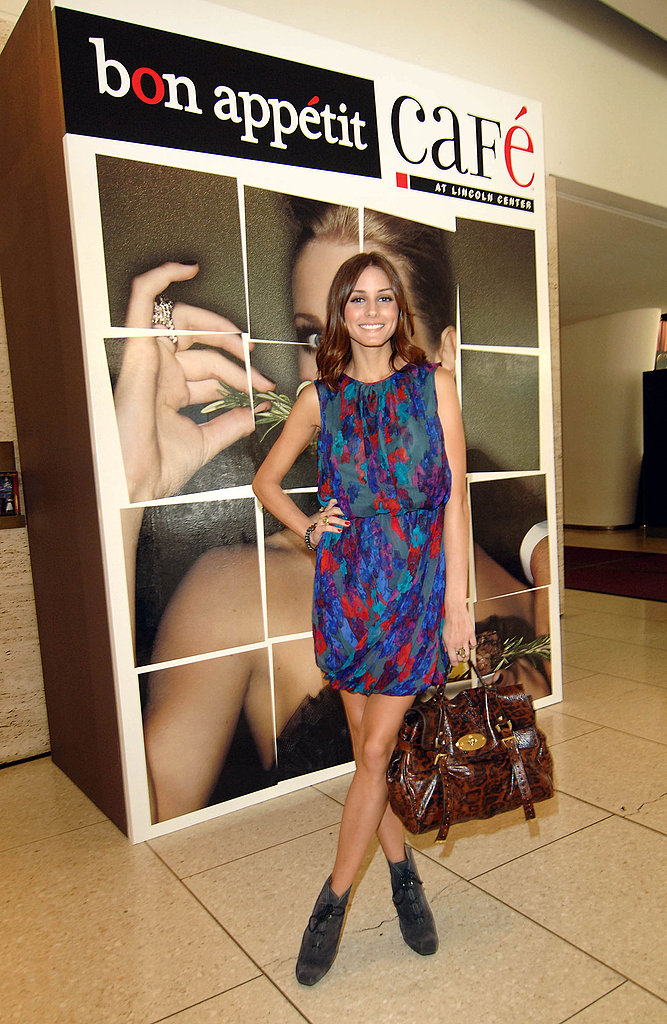 Olivia Palermo is hard to miss in her signature eclectic-chic, hanging around Lincoln Center.