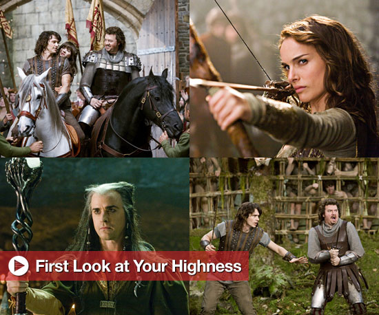 First Look: Franco, Portman, Deschanel Go Medieval in Your Highness