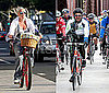 Pictures of Pink and Patrick Dempsey Biking