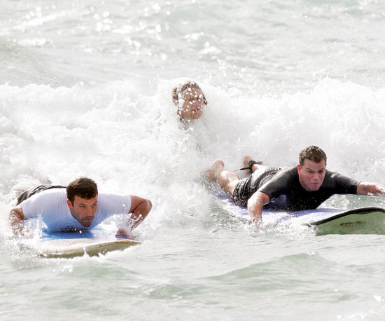 Ben Affleck and Matt Damon surfed together in Hawaii during their June 2007 vacation.