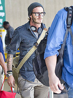 Pictures of David Beckham Arriving at LAX