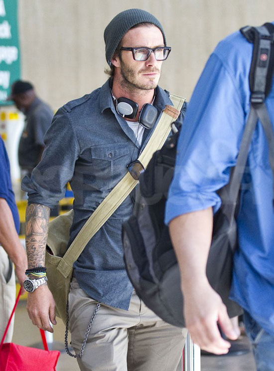 Pictures of David Beckham at LAX