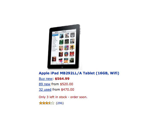 Apple's iPad Comes to Amazon