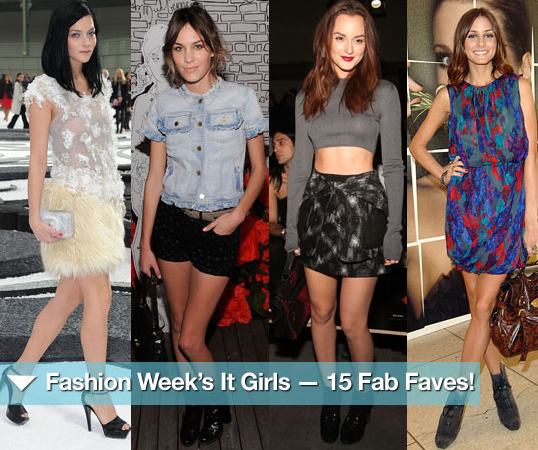 Check out Fashion Week's It girls, all 15 of them.