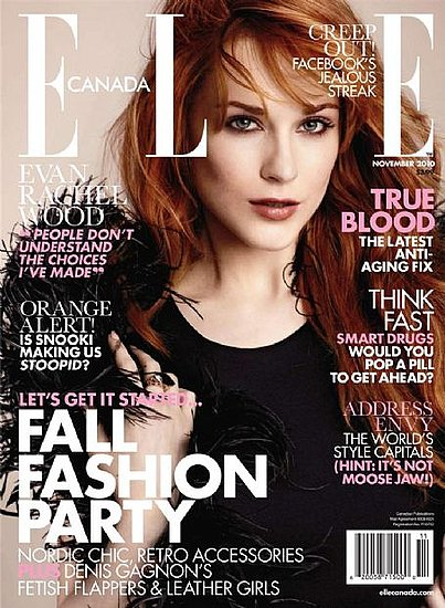 Evan Rachel Wood covers Elle Canada-november 2010