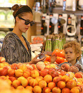 Pictures of Jessica Alba, Cash Warren, and Honor Warren Grocery Shopping in LA 2010-10-11 14:00:00