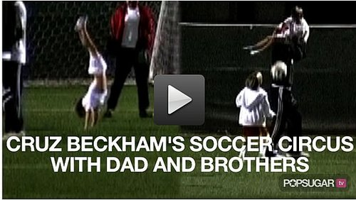 Video of David Beckham Playing Soccer With His Boys