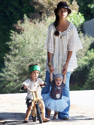 Pictures of Levi and Vida McConaughey Playing With Camila Alves in Malibu