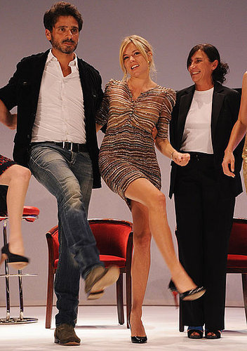 Pictures of Sienna Miller Doing the Can-Can Dance in France at British Film Festival