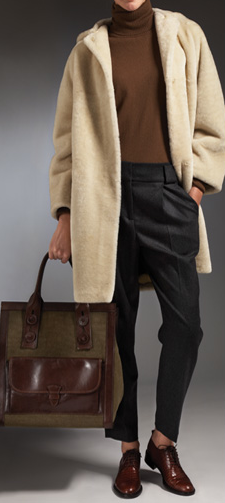 Stay all kinds of snug in a long shearling coat.