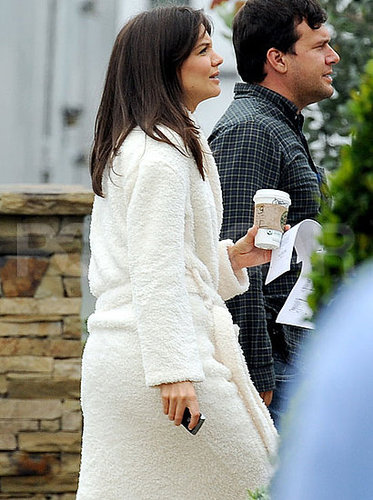 Pictures of Katie Holmes Filming Jack and Jill